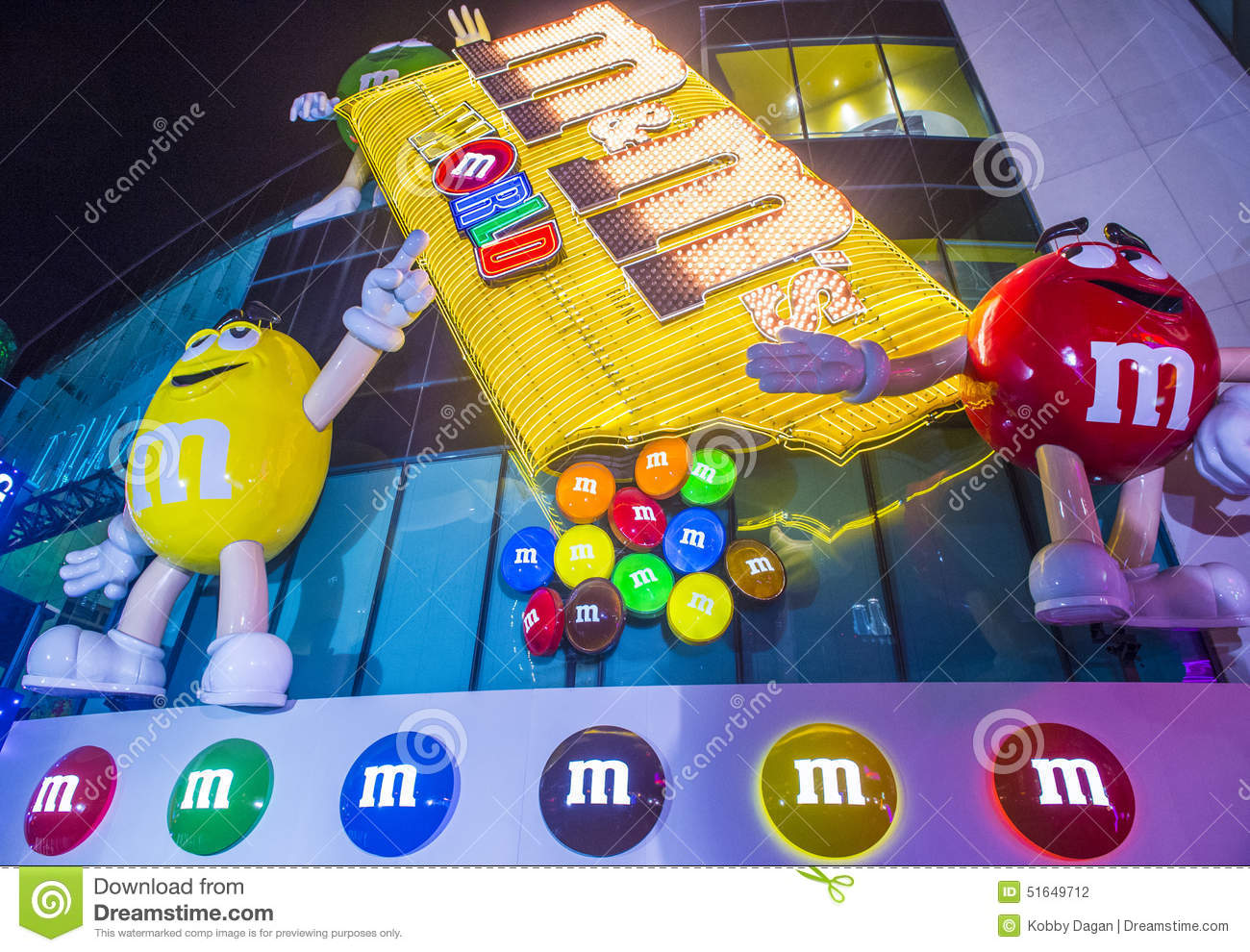 M&M World Las Vegas Editorial Image - Image: 51649615