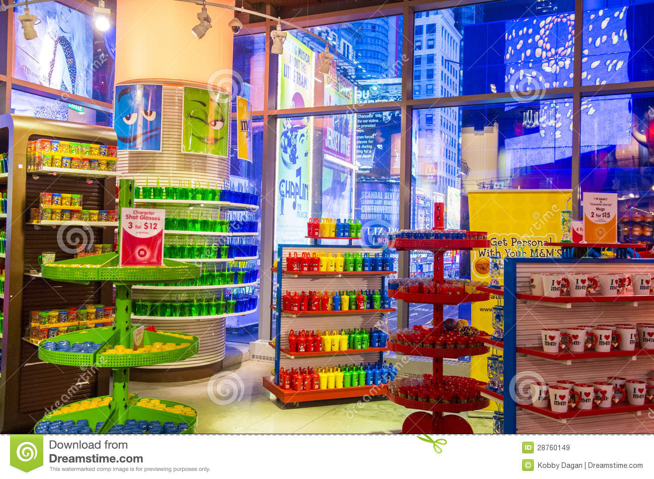 NEW YORK CITY - NOV 01 : The M&M world store in Times square New York ...