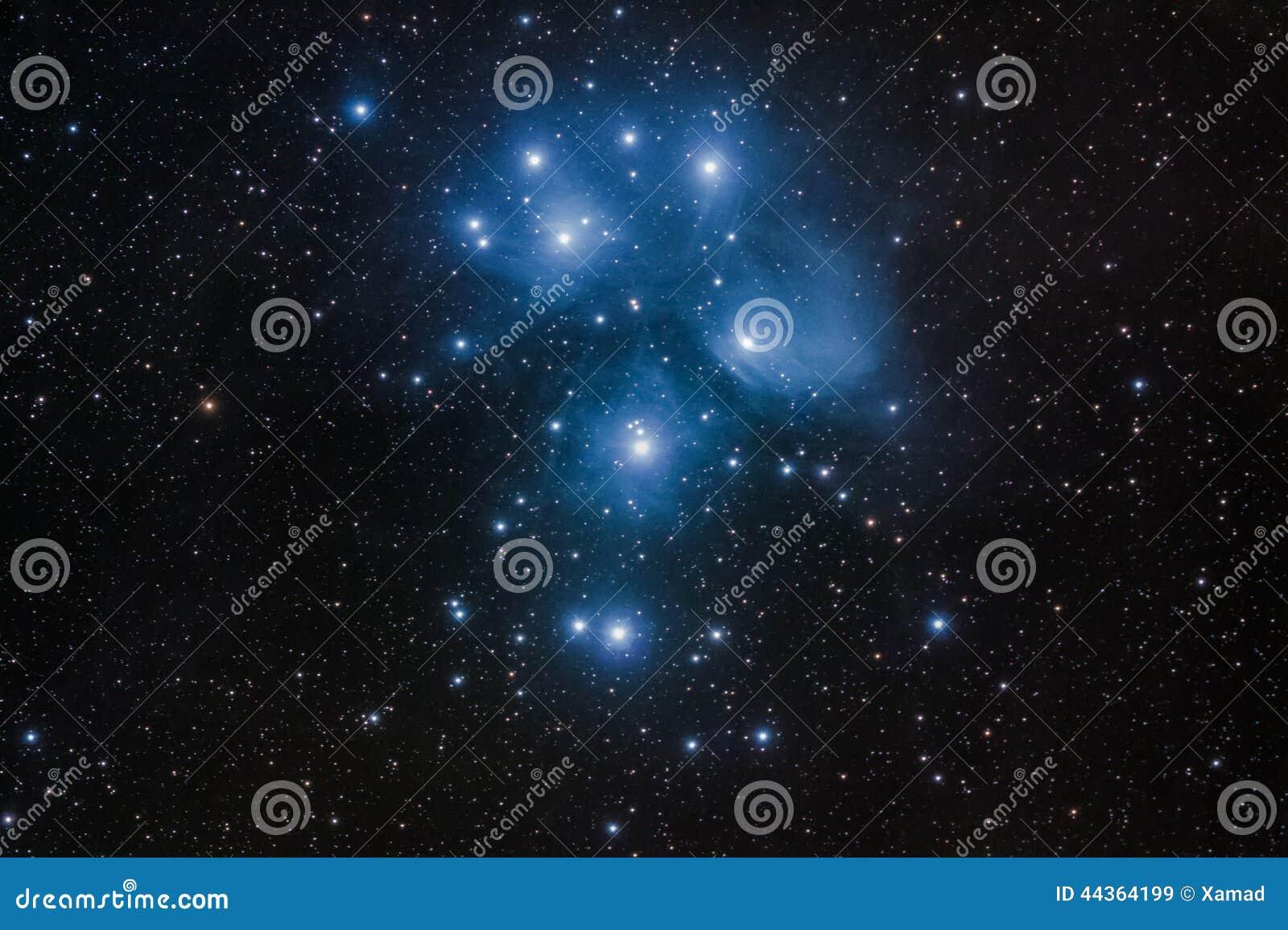 M45 - Mazzo di Pleiades in Toro