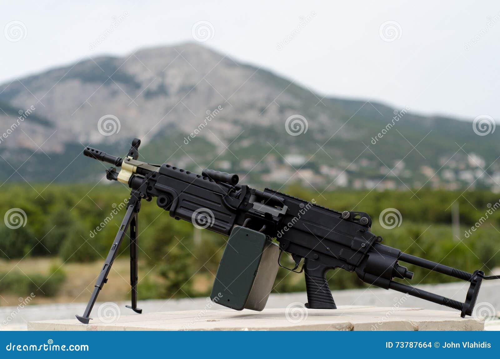 m249 minimi light machine gun stock photo image of infantry mini