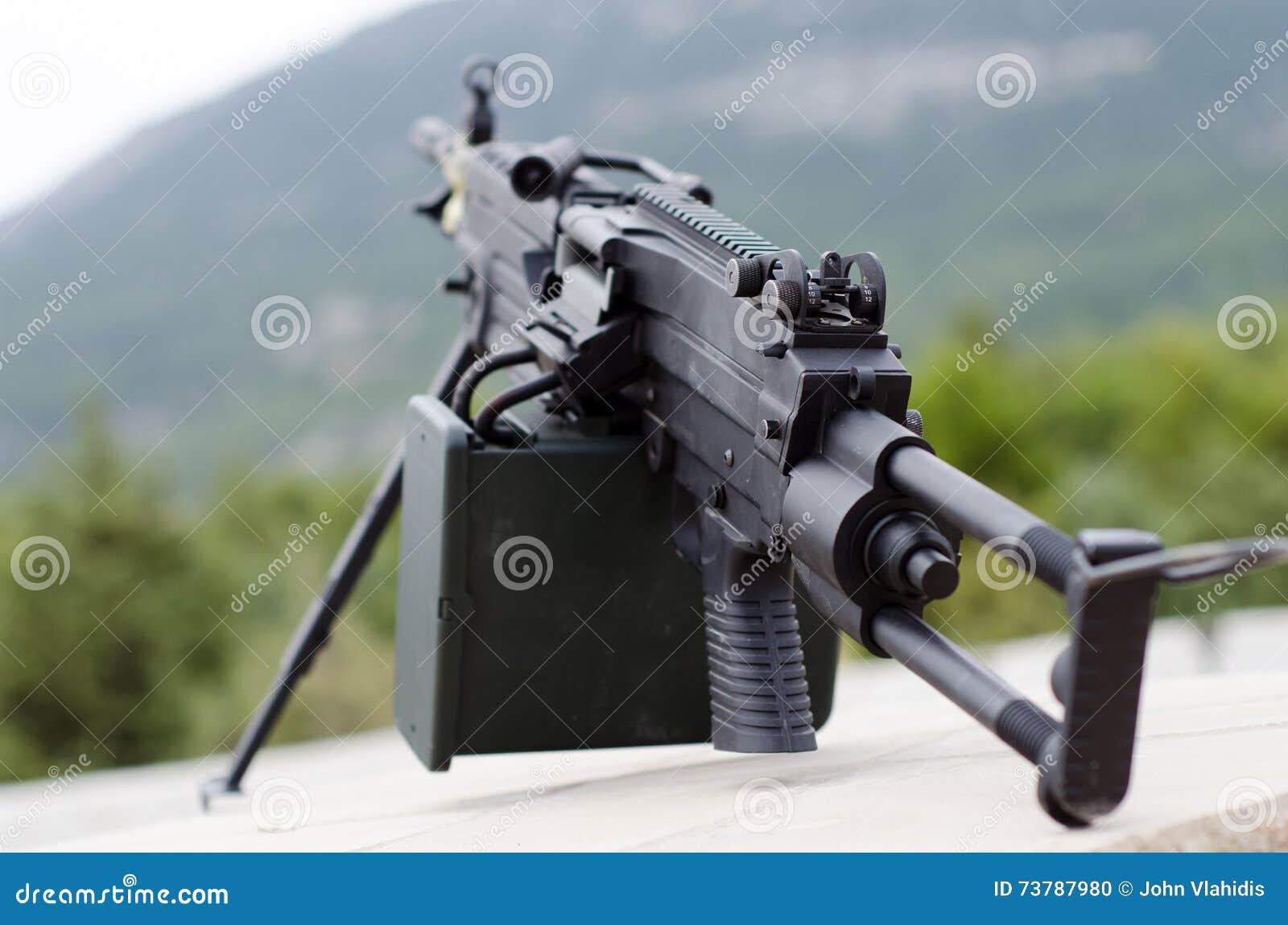 m249 minimi light machine gun stock photo image of mini