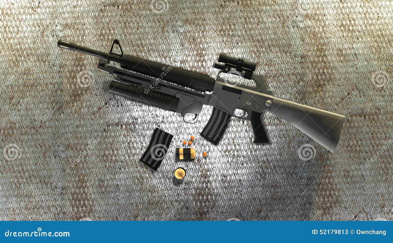 M16 Stock Illustration Illustration Of Automatic Army