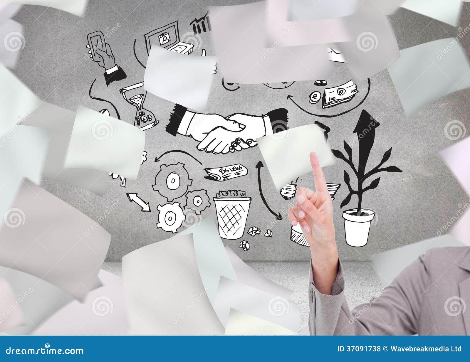 Download Młodej Sprzedawczyni Operacyjny Ekran Sensorowy Zdjęcie Stock - Obraz złożonej z komputer, grafika: 37091738
