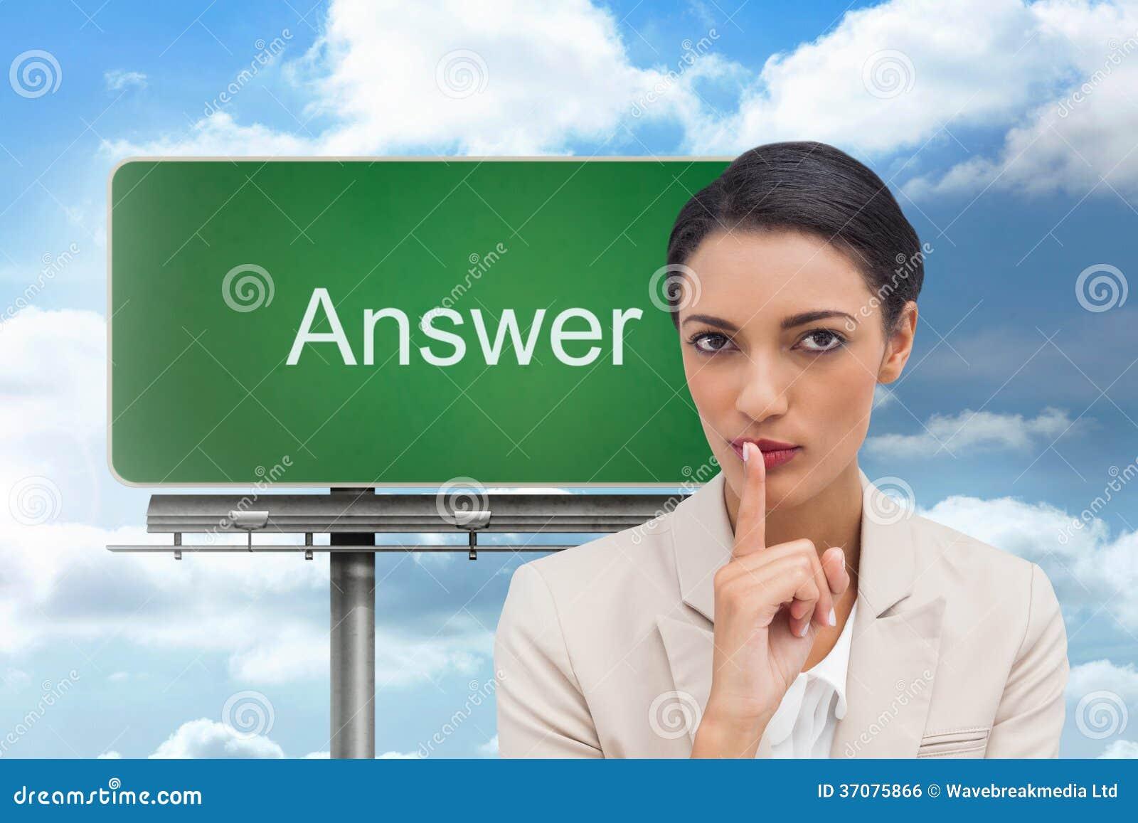 Download Młody Bizneswoman Pyta Dla Ciszy Zdjęcie Stock - Obraz złożonej z chmurny, greenbacks: 37075866