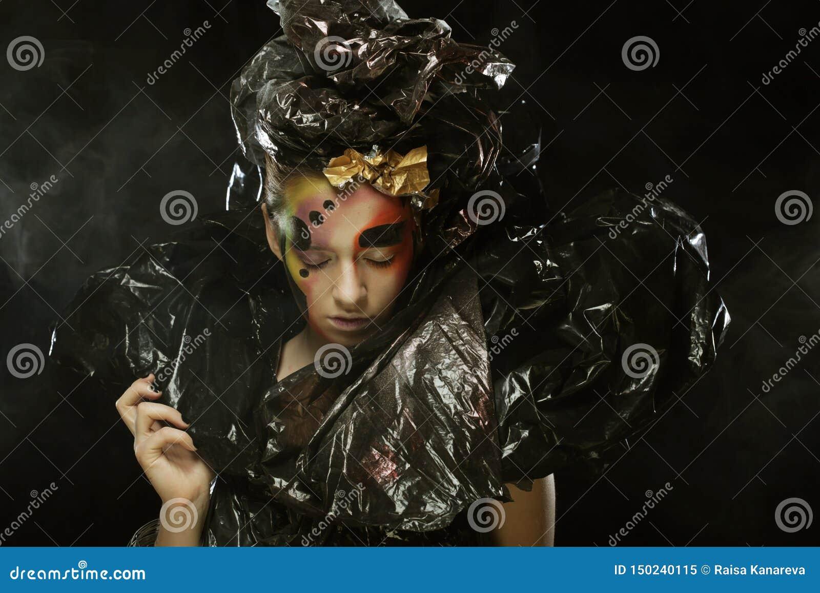M?rk h?rlig gotisk Princess Halloween deltagare