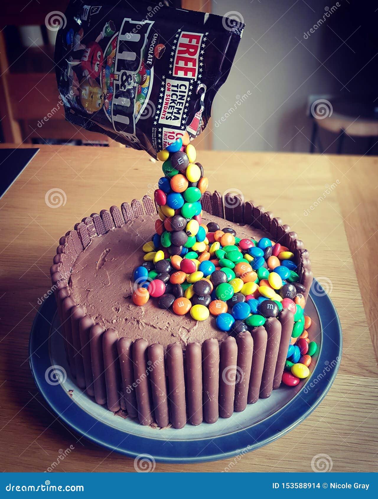Enjoyable Mm S Chocolate Pouring Cake Editorial Stock Image Image Of Funny Birthday Cards Online Hendilapandamsfinfo