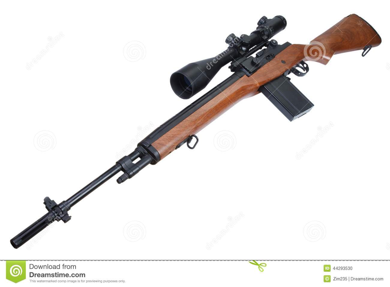 M14 Sniper Rifle Isolated Stock Photo - Image: 44293530 M14 Sniper Rifle Usmc