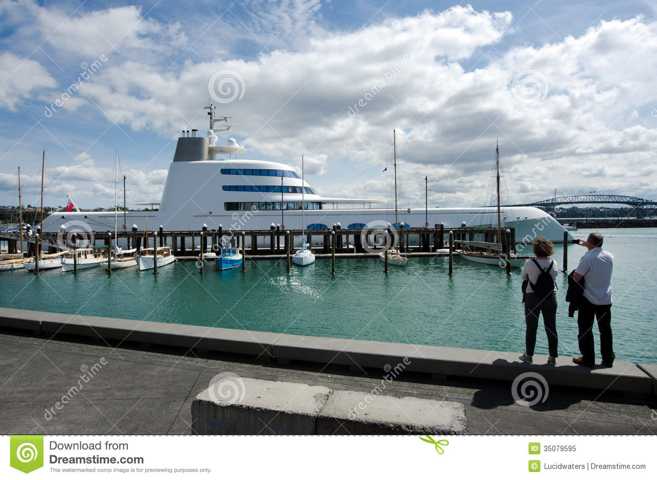 M y a luxury motor yacht mooring at auckland wynyard wharf for A m motors