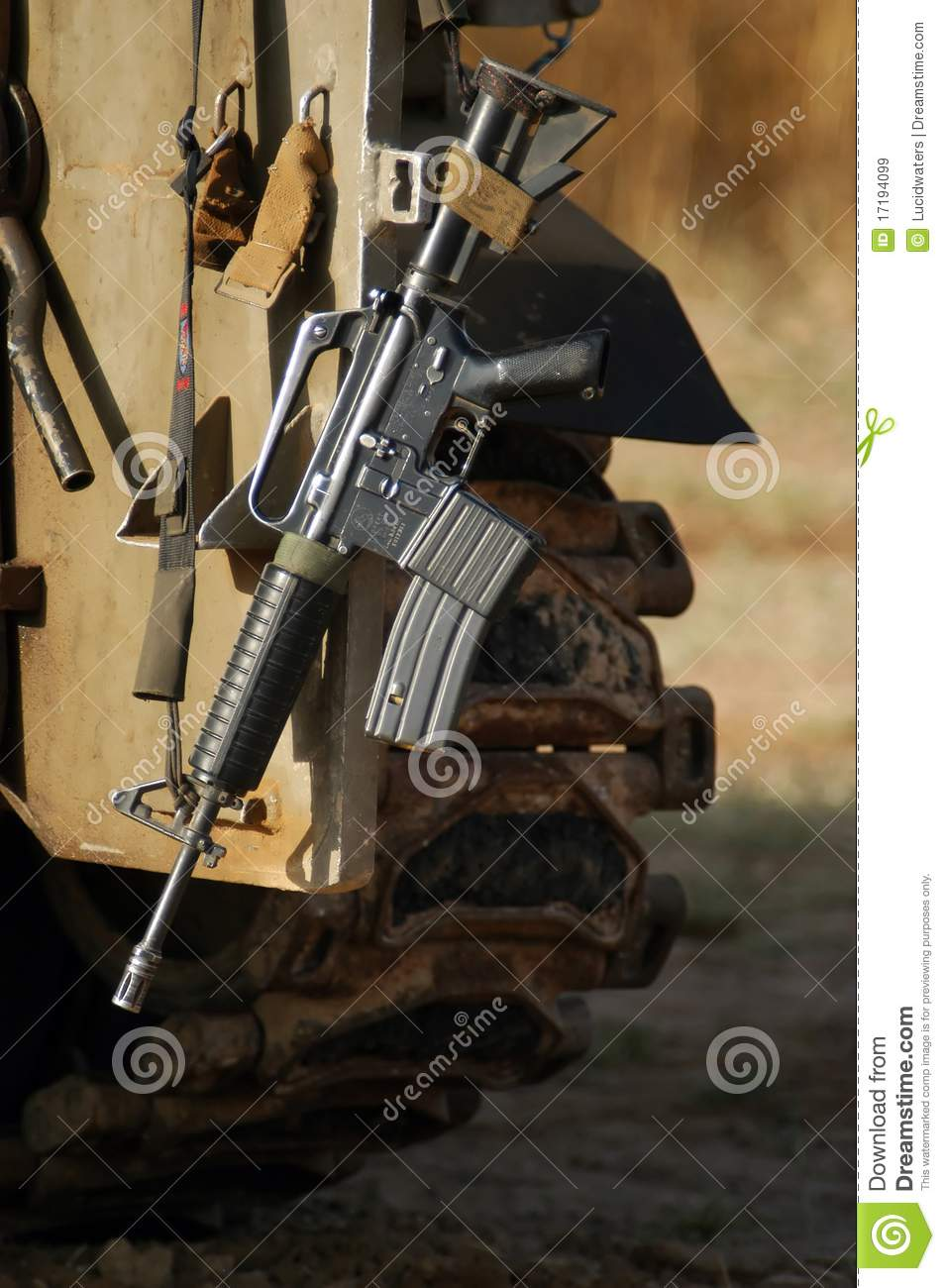M16 Israel Army Rifle Royalty Free Stock Images - Image: 17194099