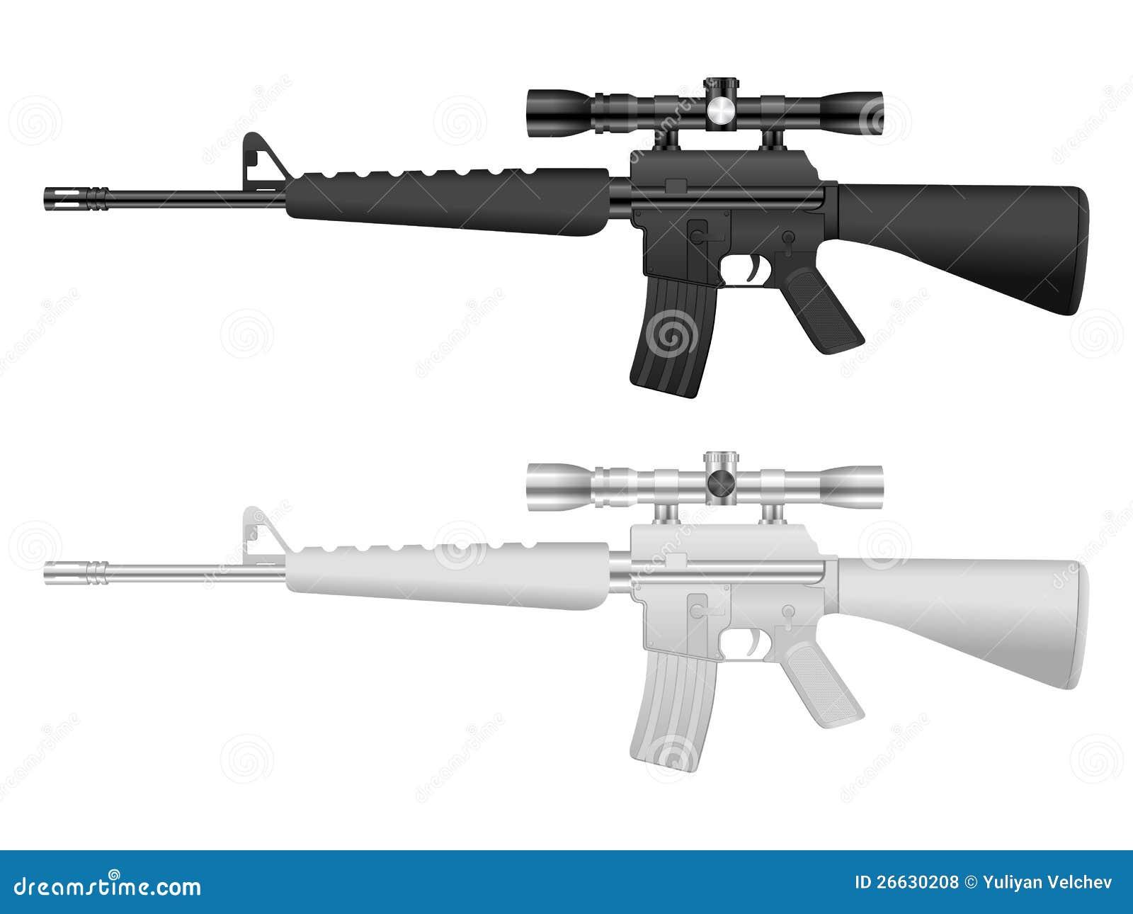 M16 Sniper Set Royalty Free Stock Photos - Image: 26630208 M16