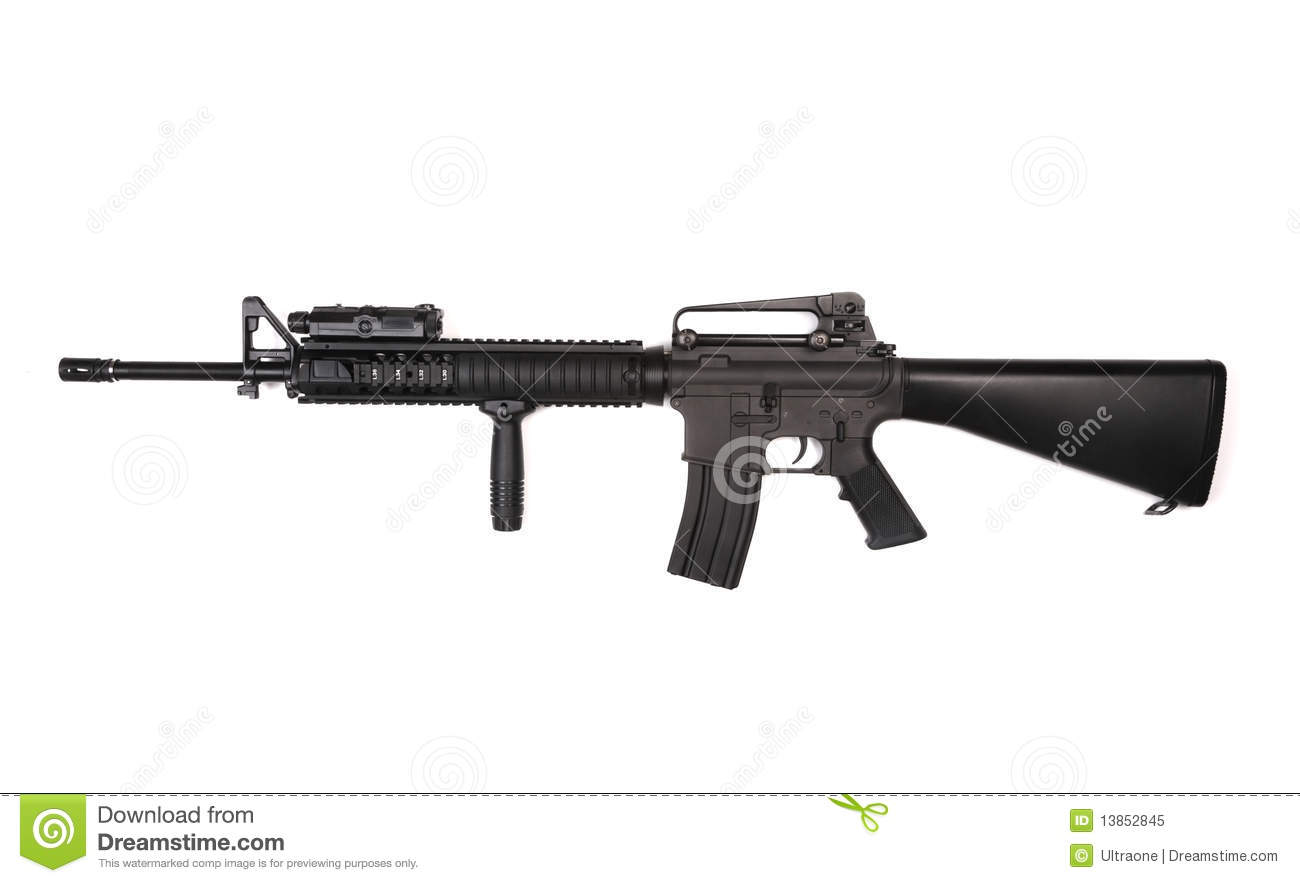 M16A4 RIS Assault Rifle. Royalty Free Stock Photo - Image ... M14 Tactical Sniper Rifle