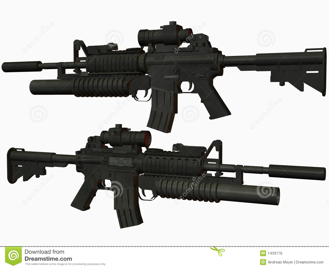 M4 Weapon Royalty Free Stock Images - Image: 1433179 M16 Airsoft Gun