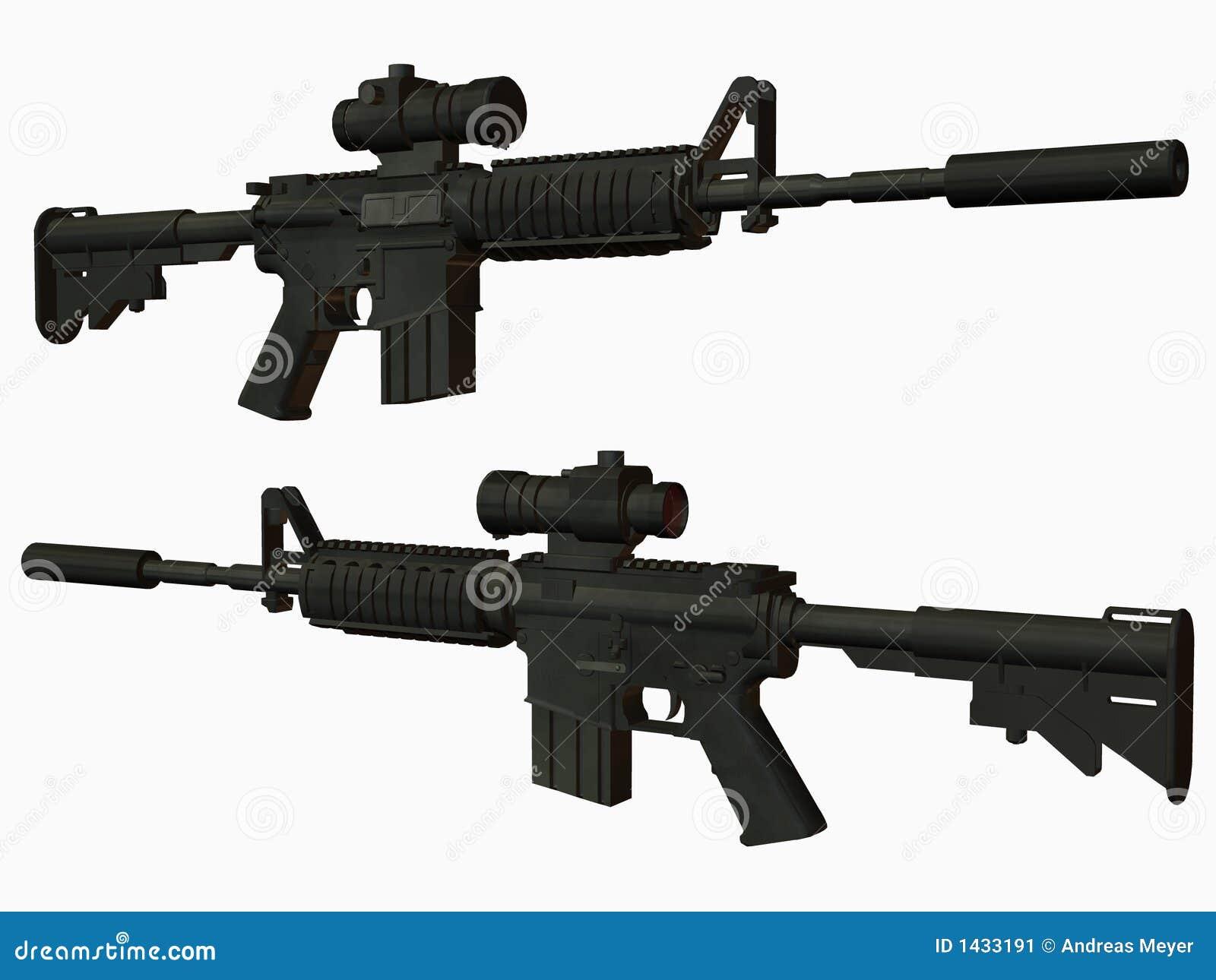 M4 Weapon Stock Image - Image: 1433191