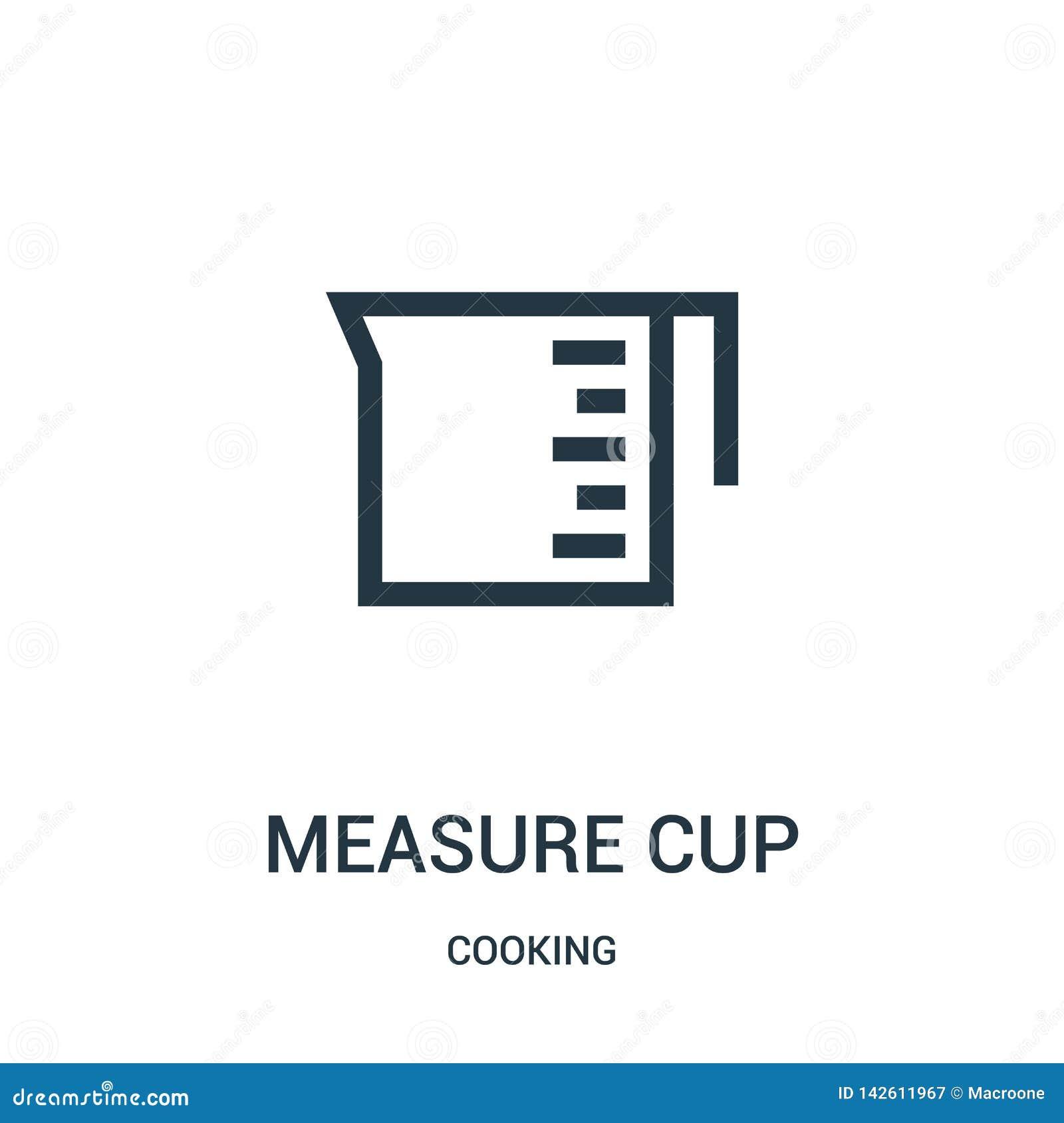 Maßschalen-Ikonenvektor vom Kochen der Sammlung Dünne Satzbreite Schalenentwurfsikonenvektorillustration Lineares Symbol