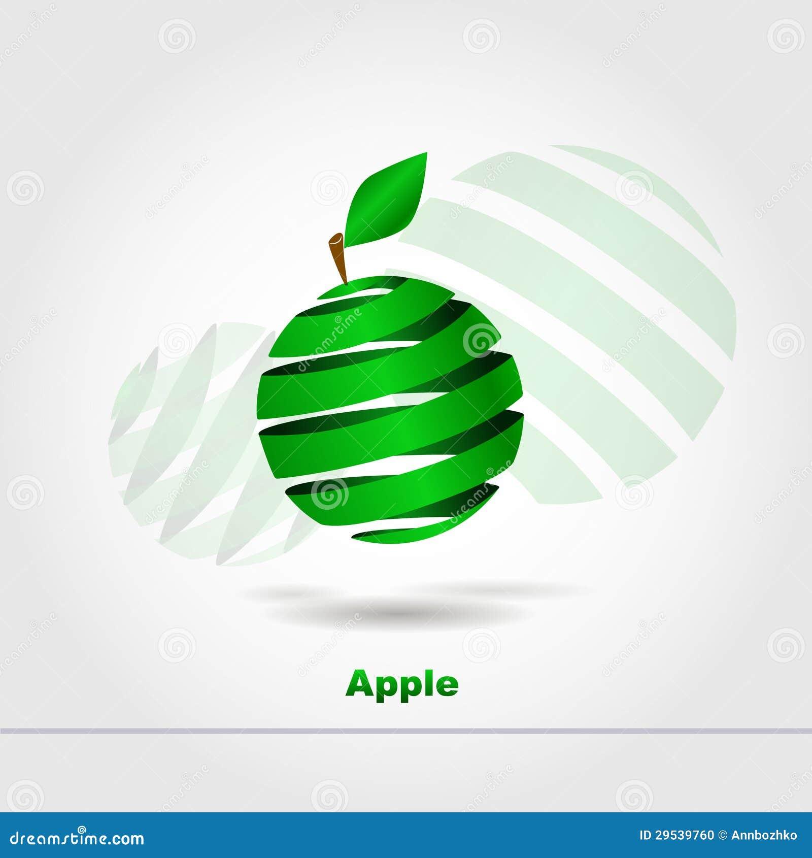 Maçã verde abstrata
