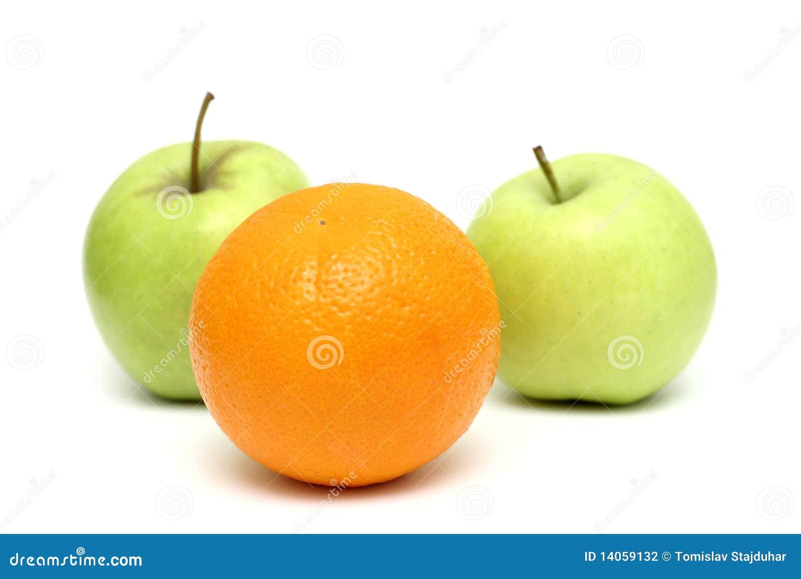 Maçãs e laranja