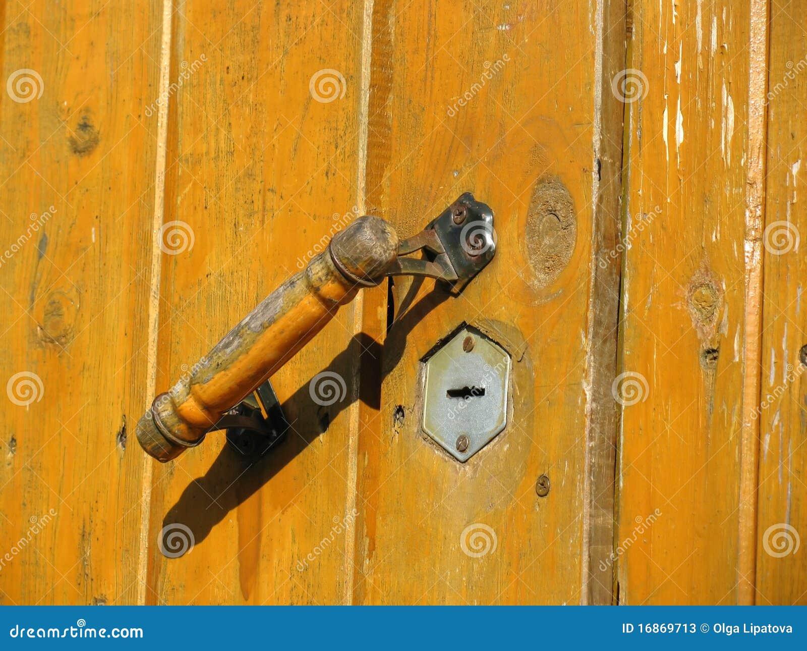 Maçaneta de porta e buraco da fechadura