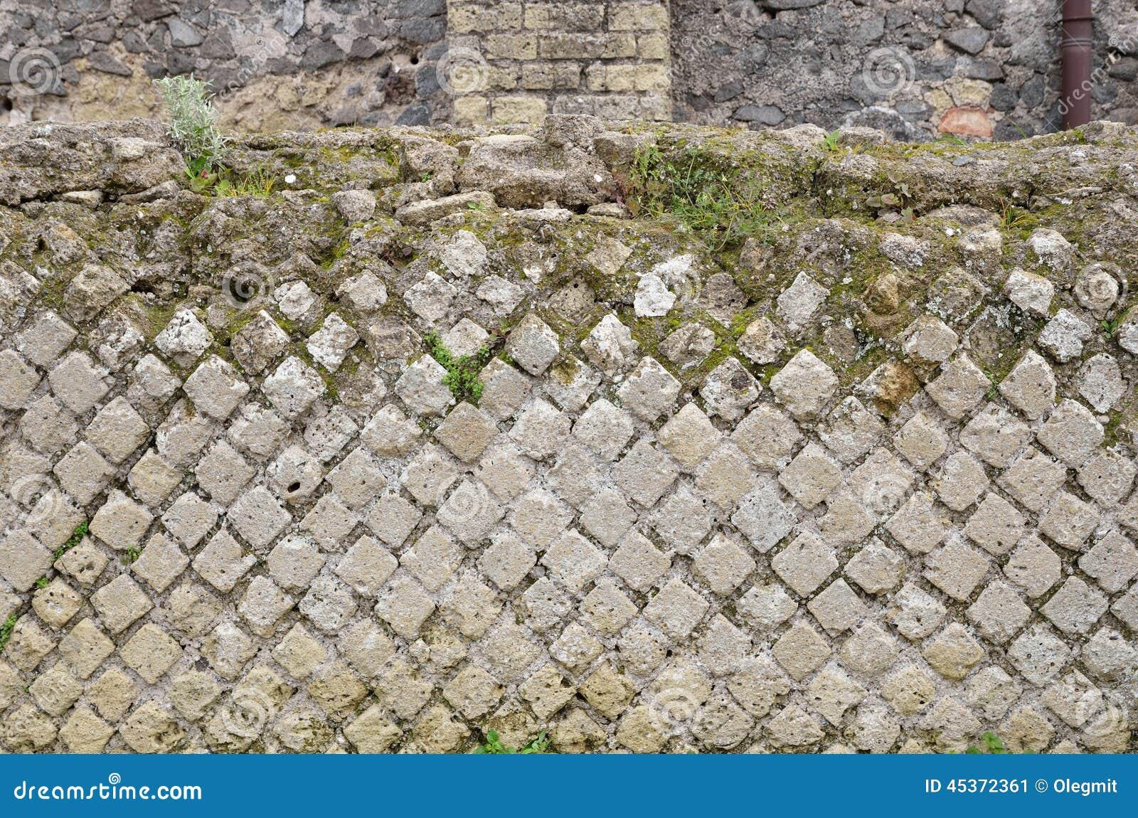 Maçonnerie antique dans la ville perdue Pompeii