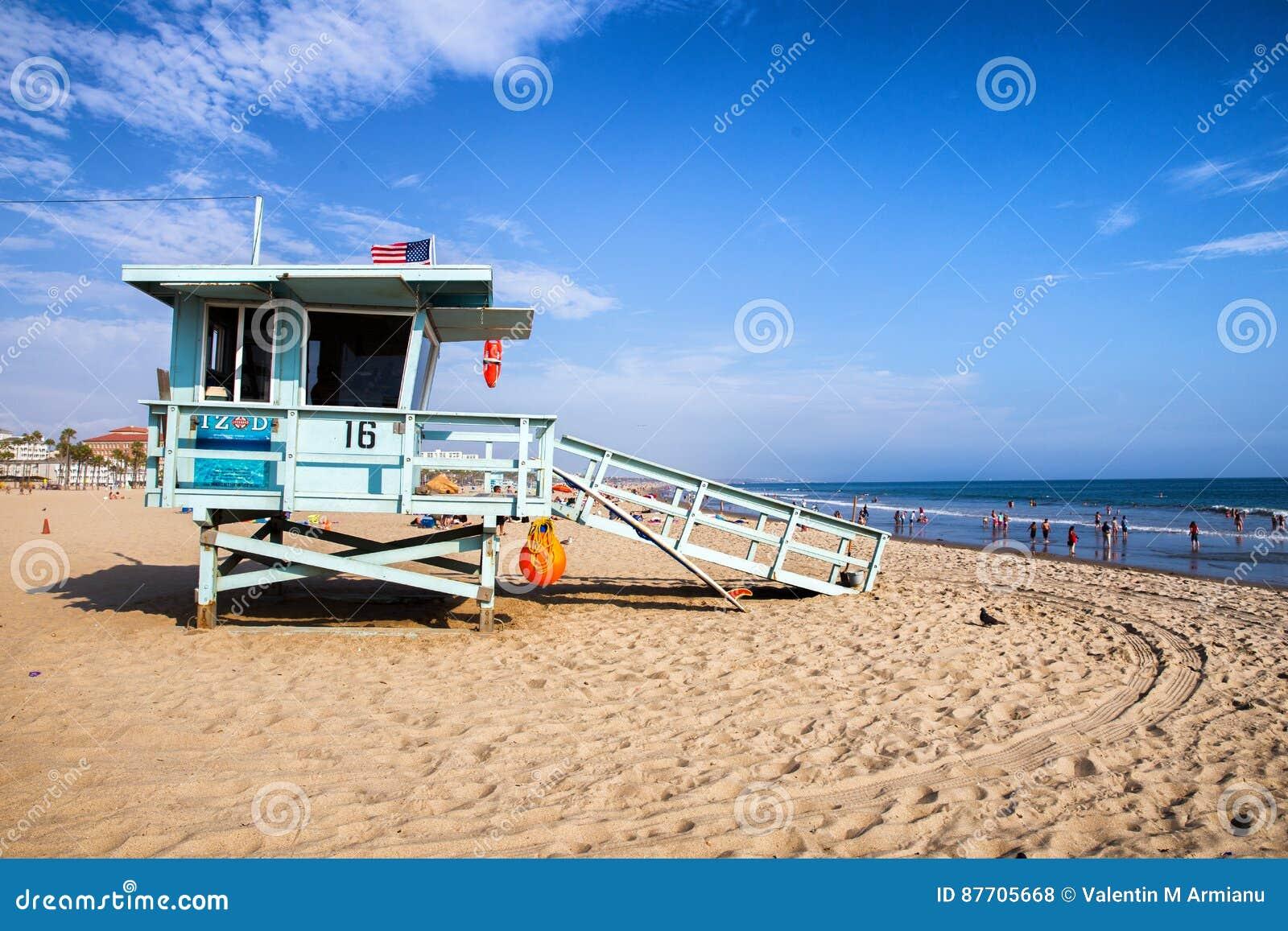 Maître nageur sur la plage de Venise