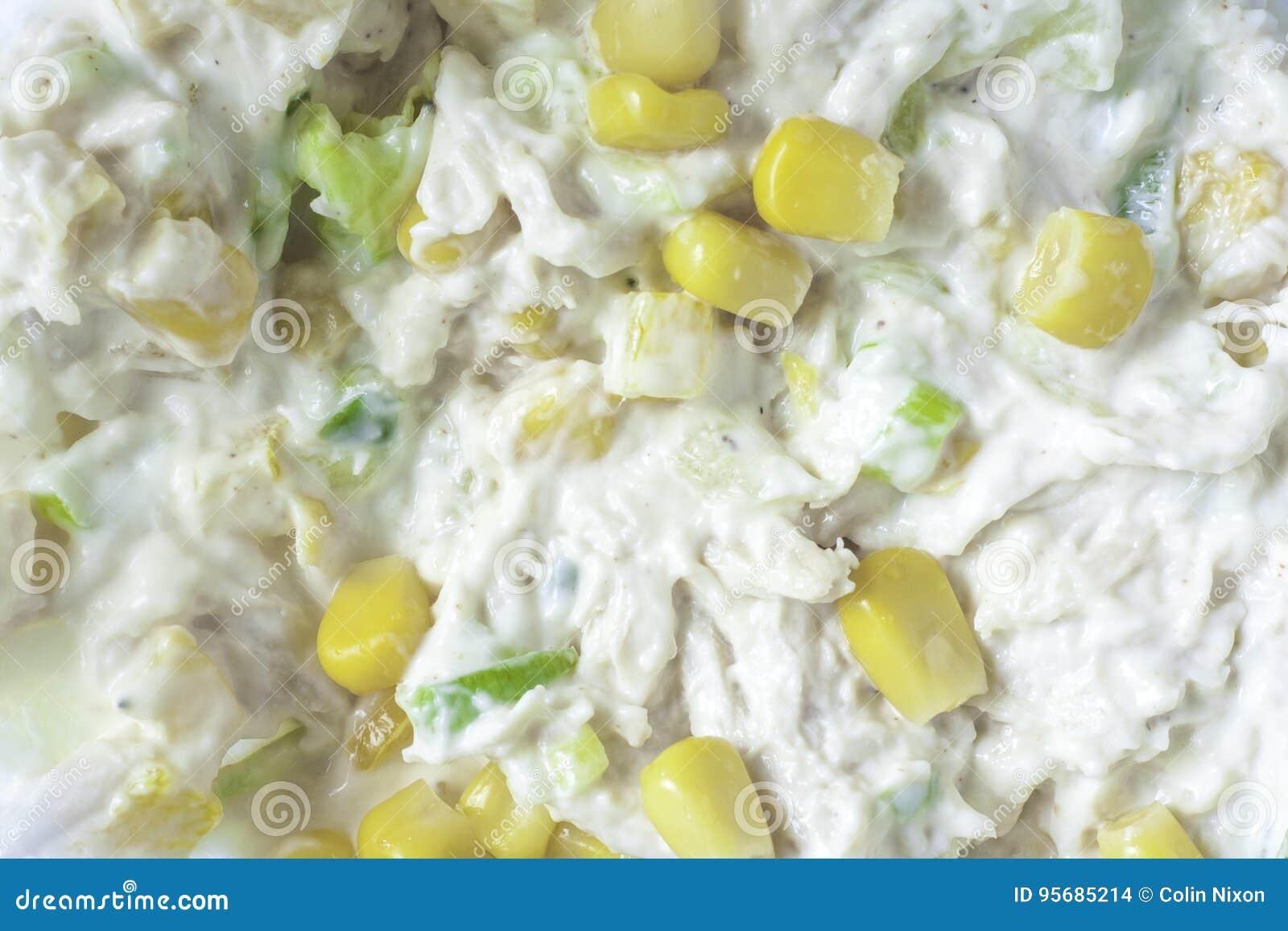 Maïs doux et poulet Mayo