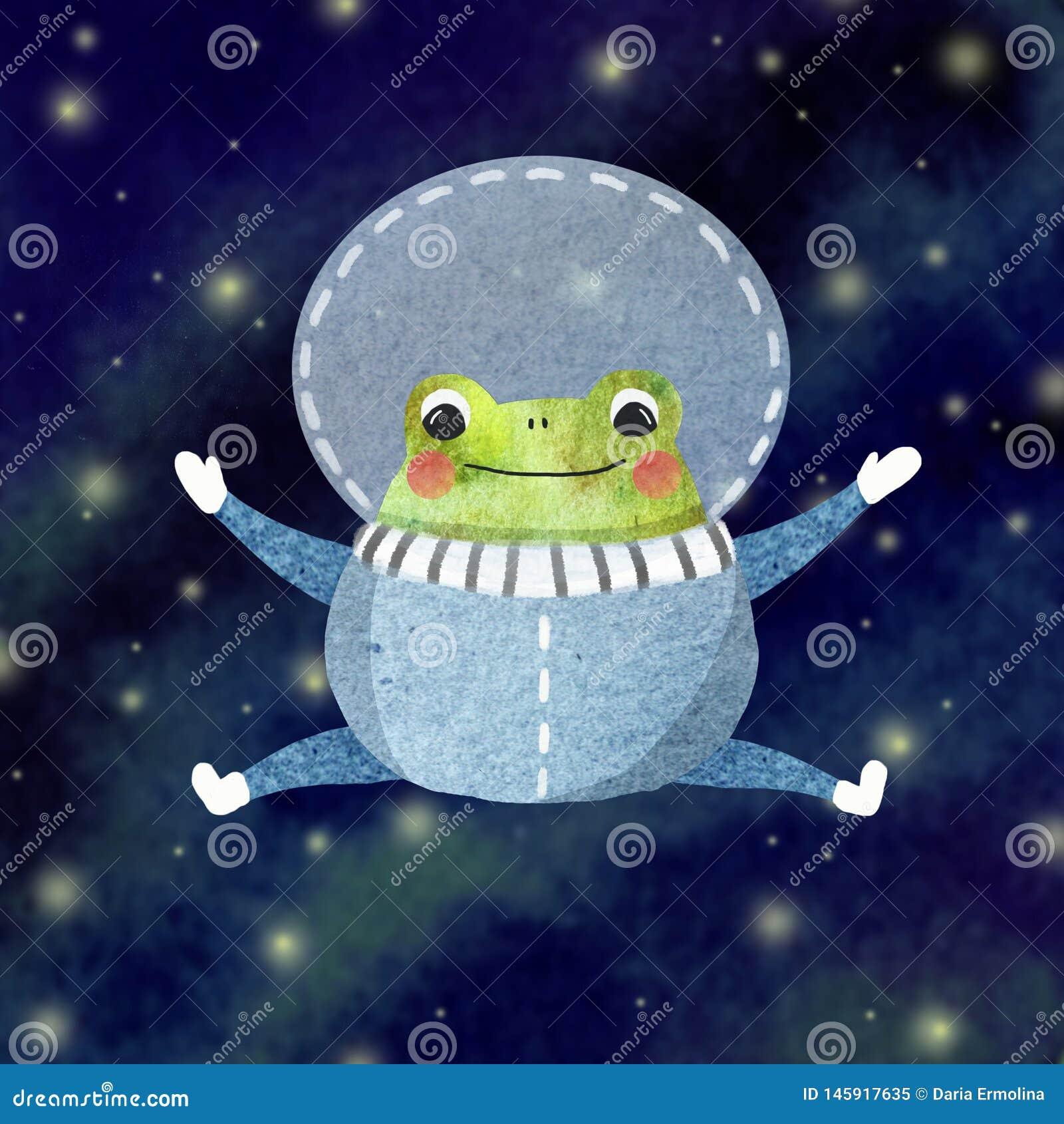 Mała śmieszna żaba
