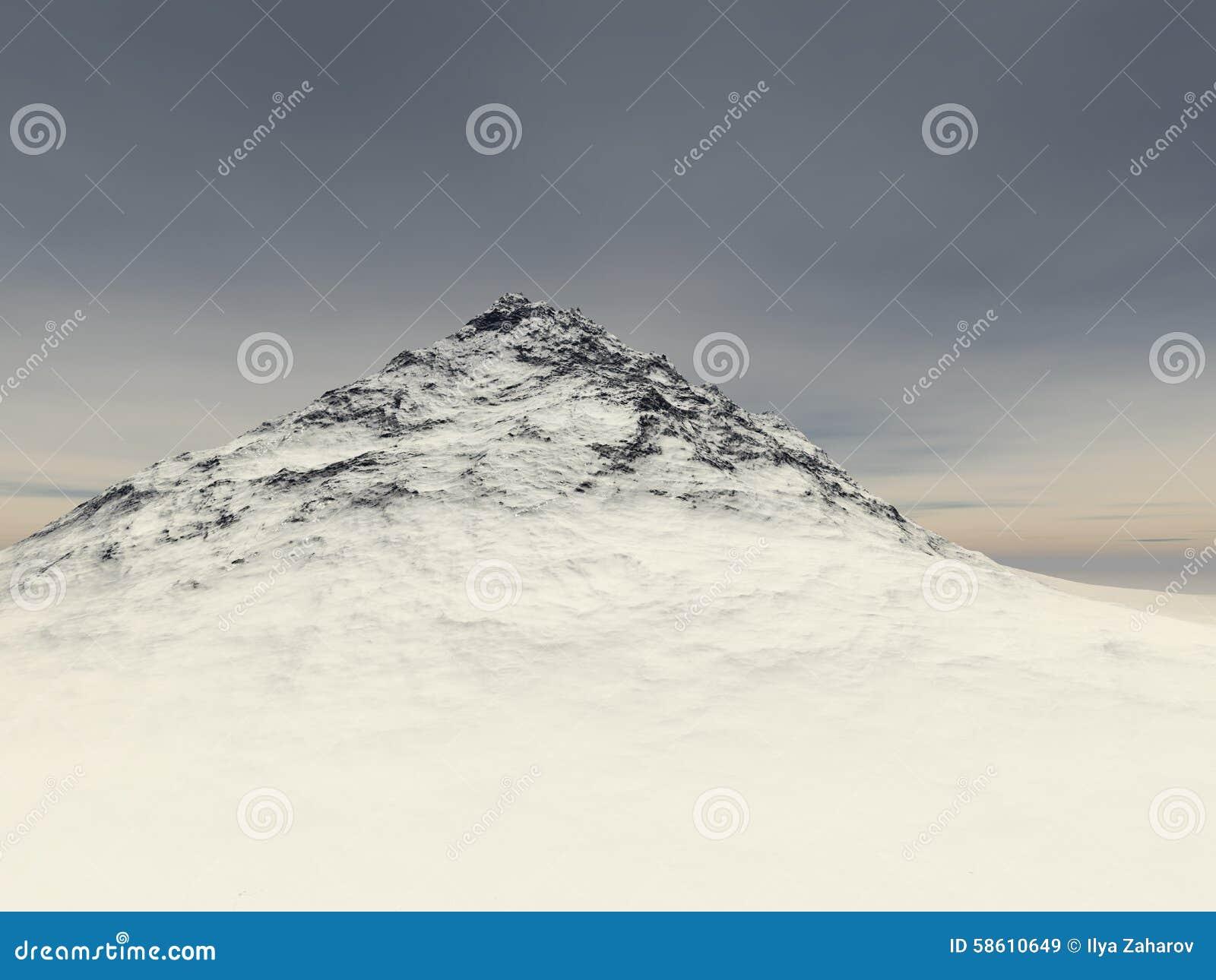 Mała śnieżysta skała przy wzrostem