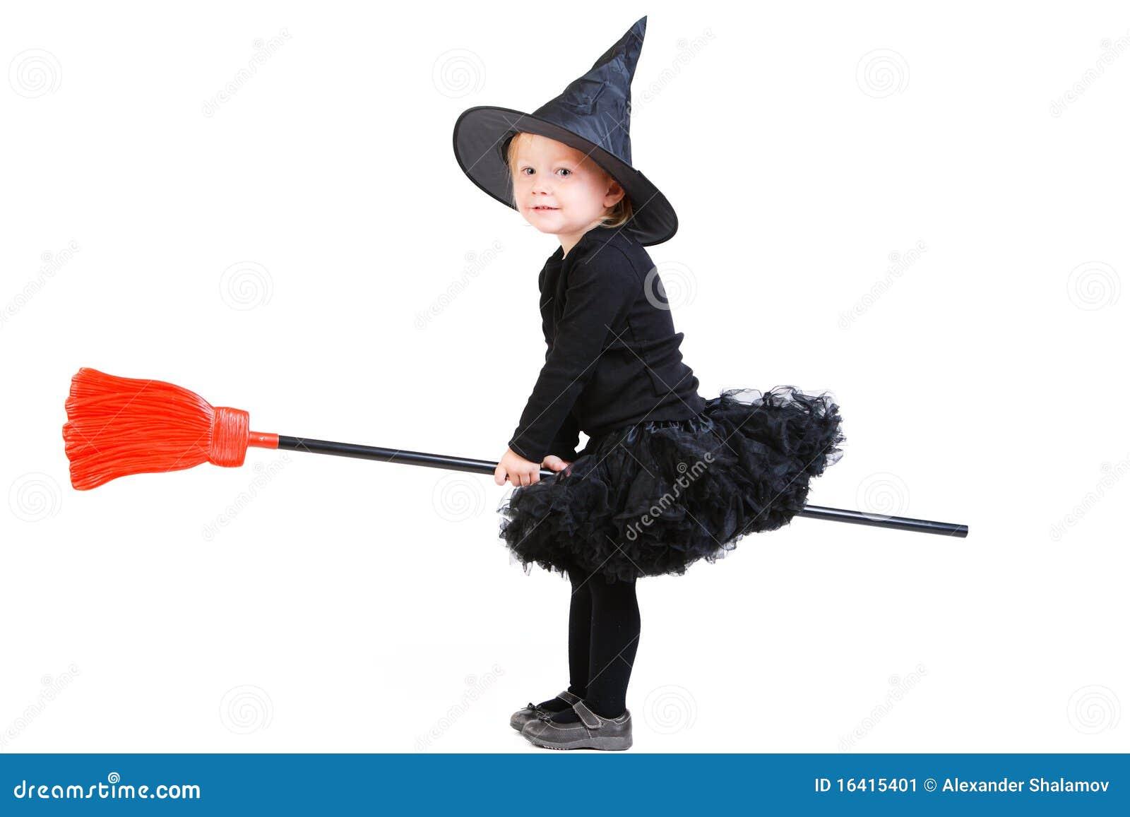 Mała broomstick czarownica