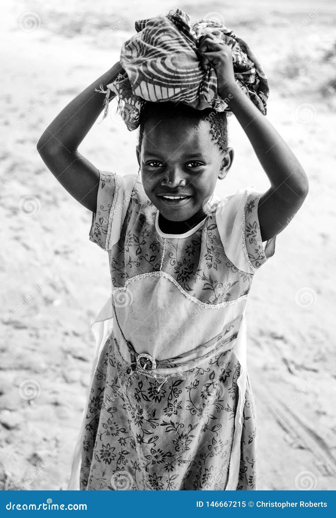 Mała Dziewczynka Tanzania