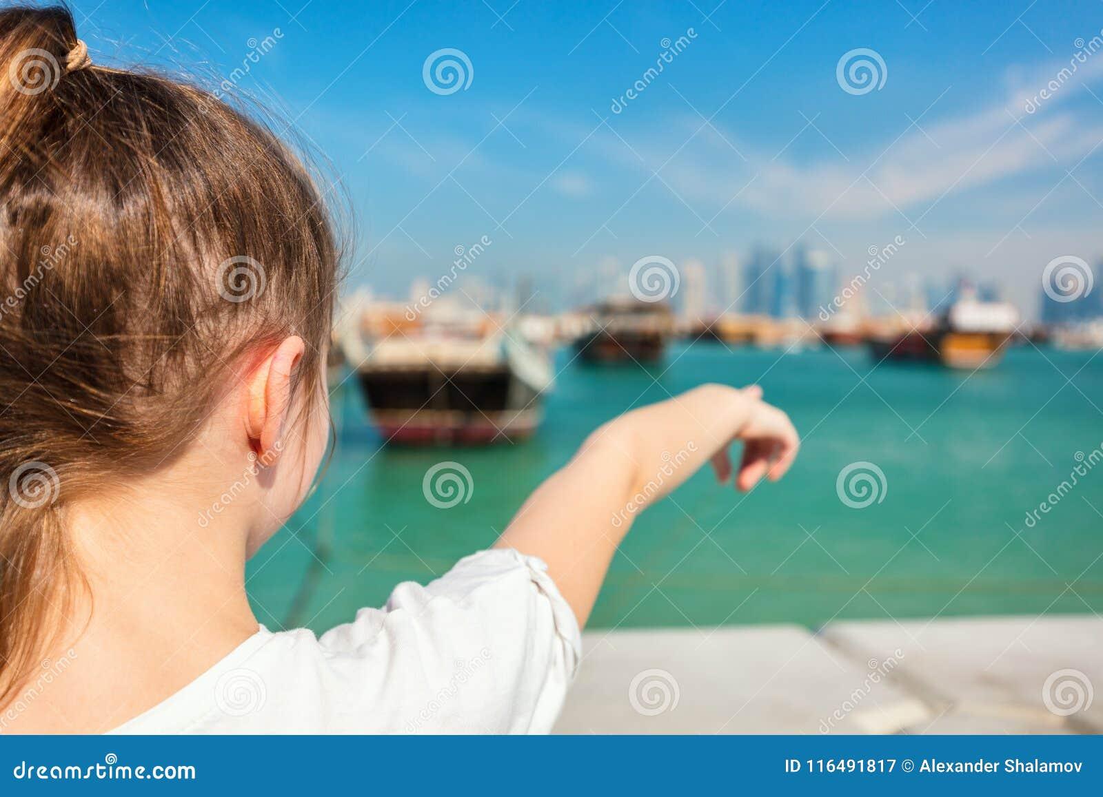 Mała dziewczynka w Doha Katar