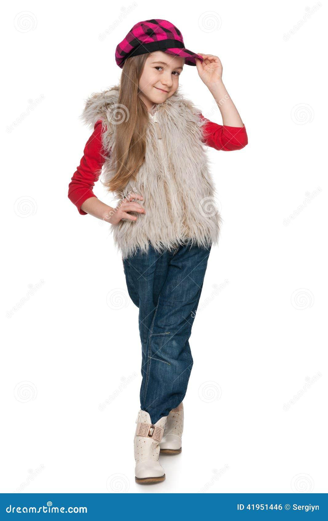 Mała fashion girl