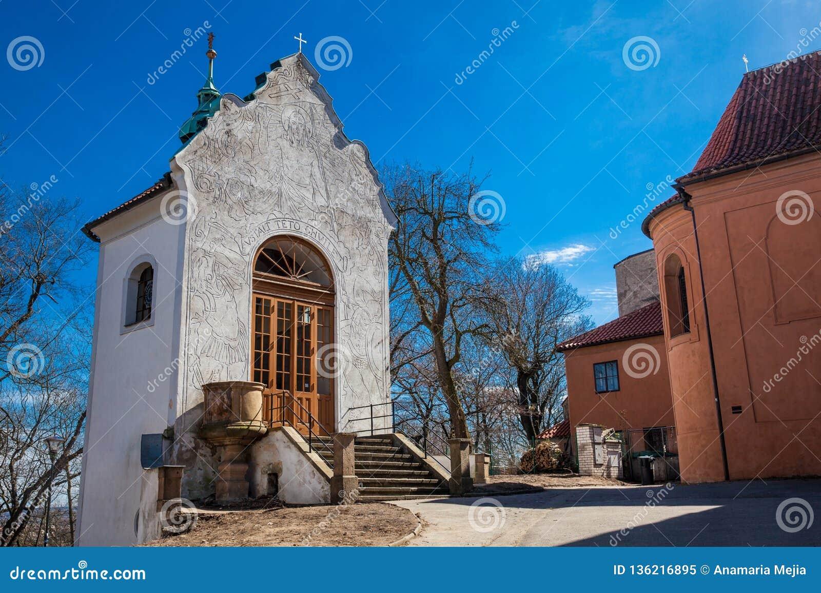 Mała kaplica kawaleria obok kościół St Lawrance