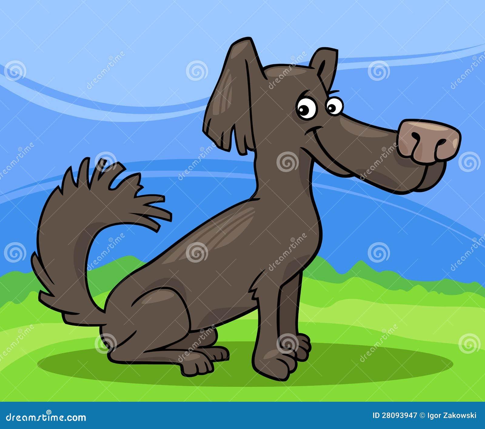 Mała kostrzewiastego psa kreskówki ilustracja