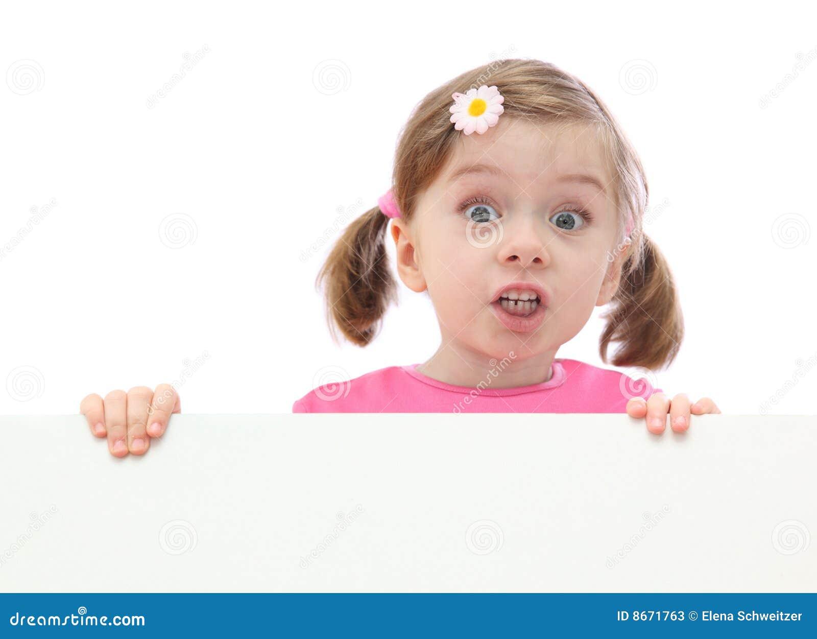 Mała sztandar dziewczyna
