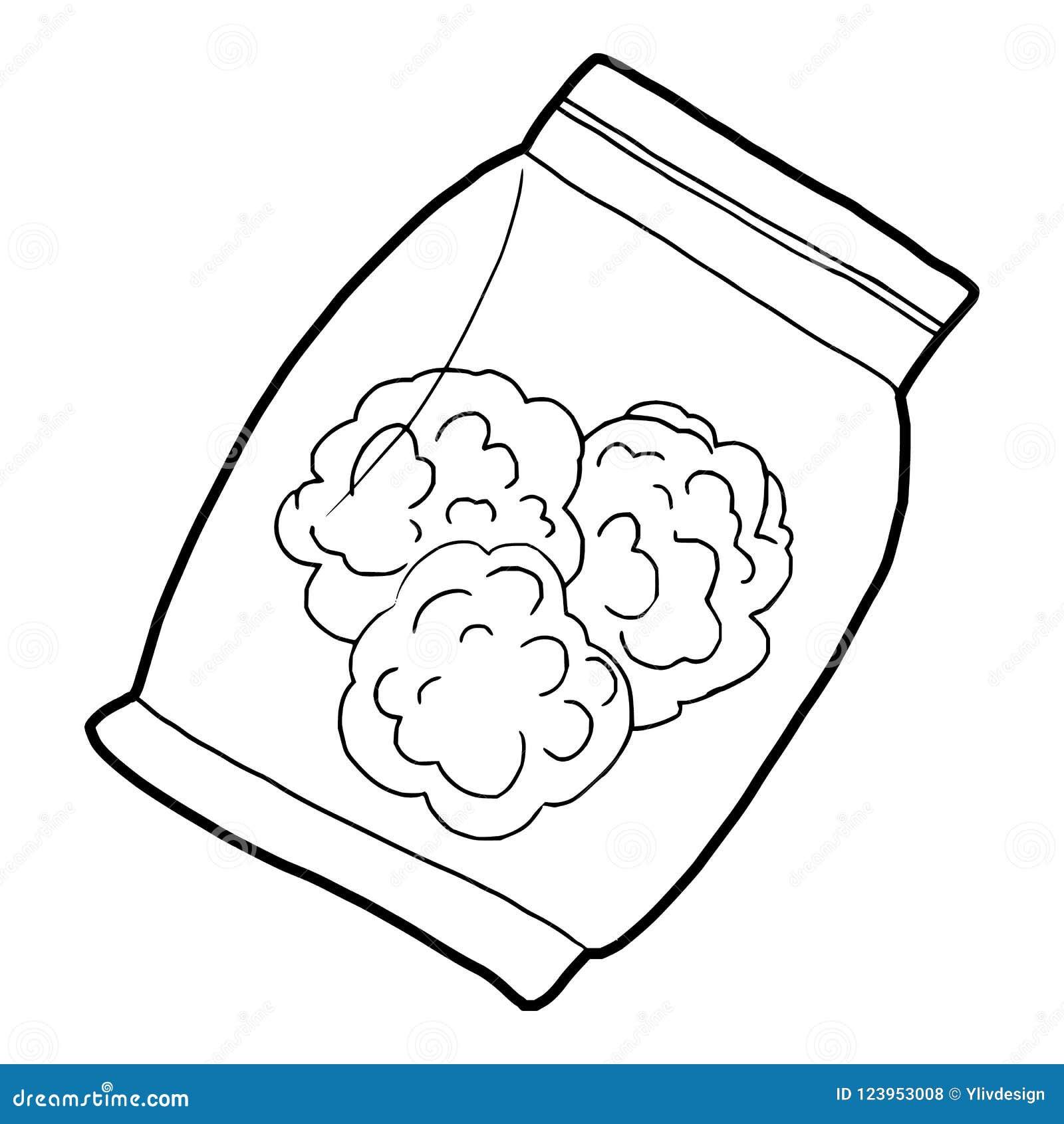 Mała torba z pączkami medyczna marihuany ikona