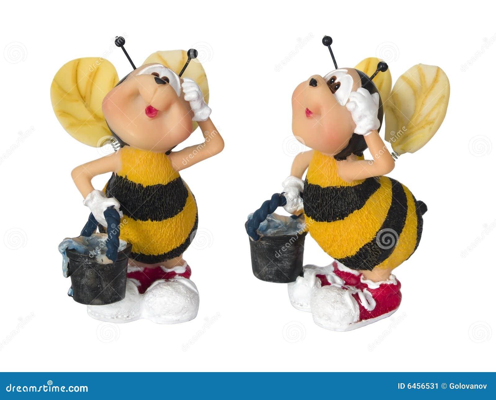Mała zabawka wiadra pszczół