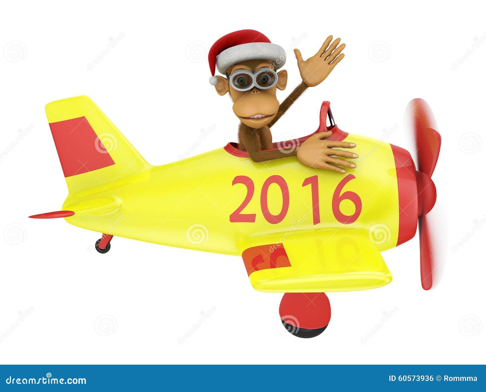 Małpa w samolocie