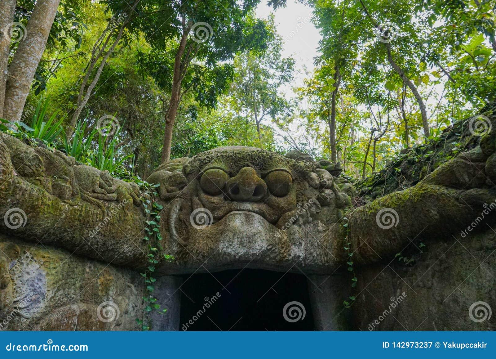 Małpi lasowy główne wejście, ubud Bali Indonezja