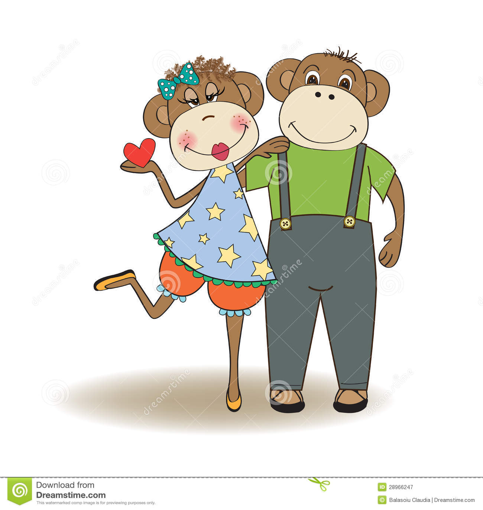 Małpy dobierają się w miłości