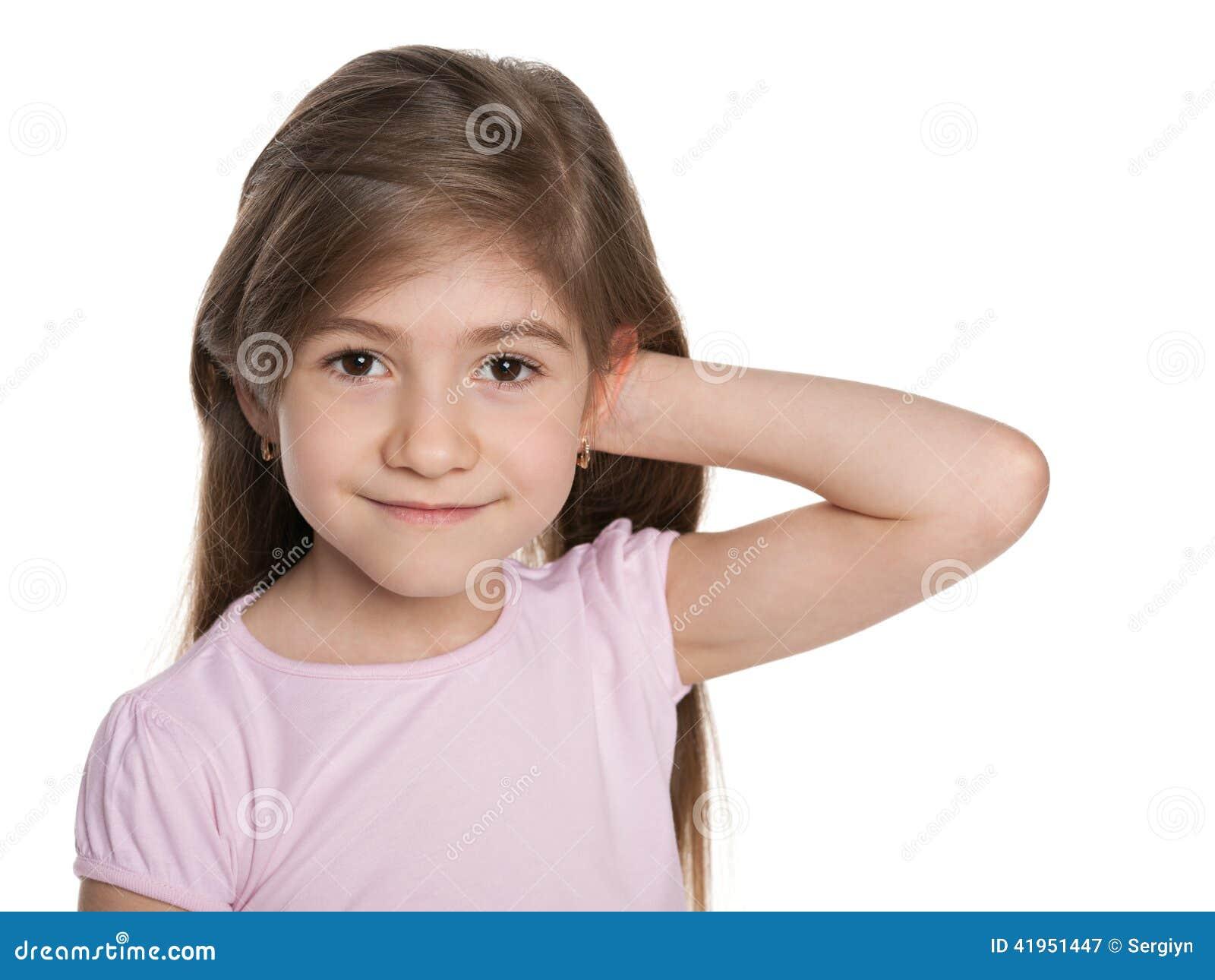 Mały śliczny portret dziewczyny