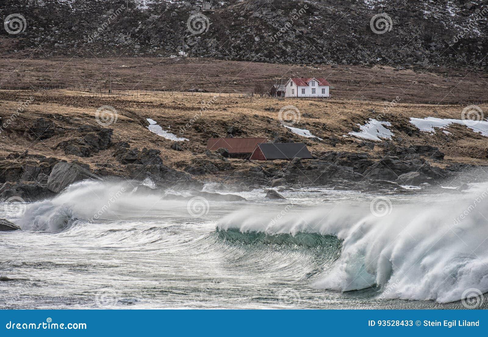 Mały dom morzem