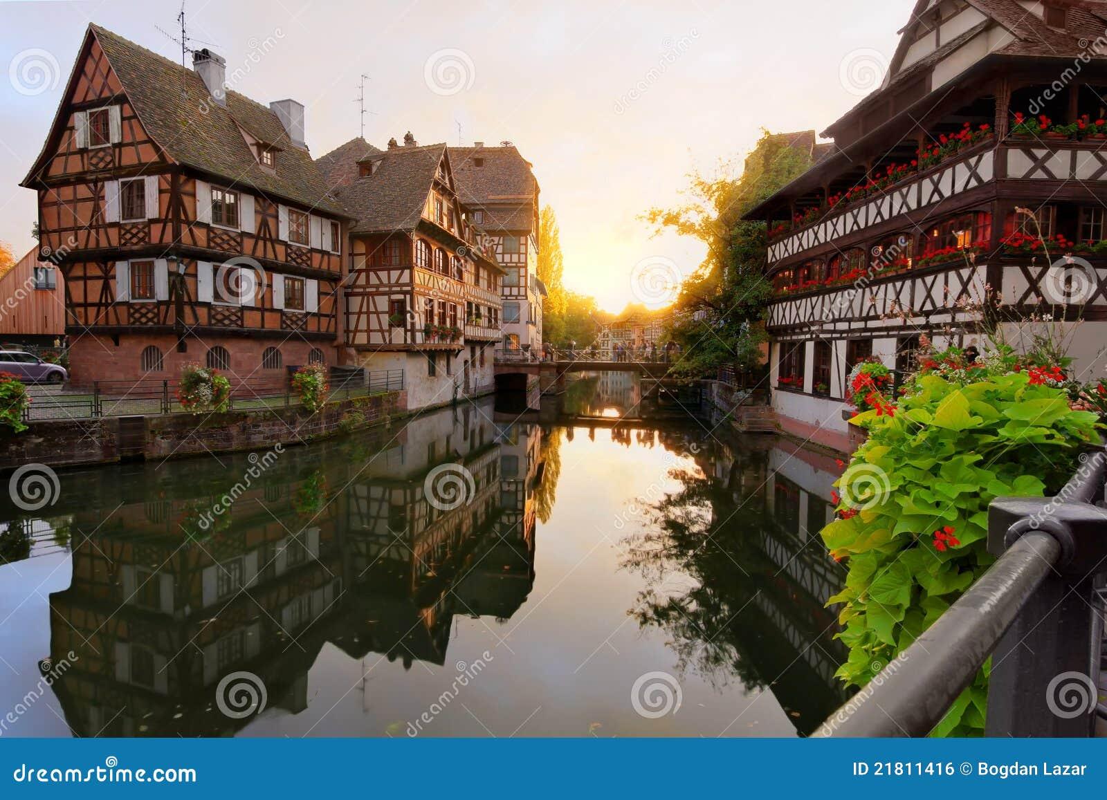 Mały France zmierzch Strasbourg