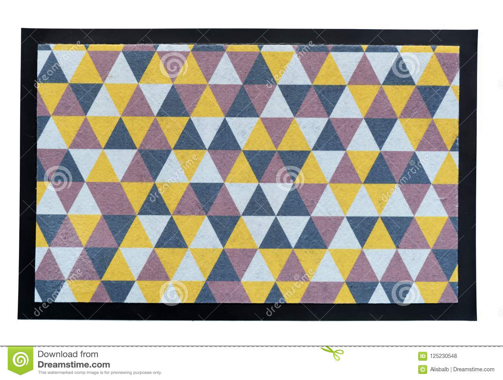 Mały kolorowy podłogowy dywan maty dywanik na bielu