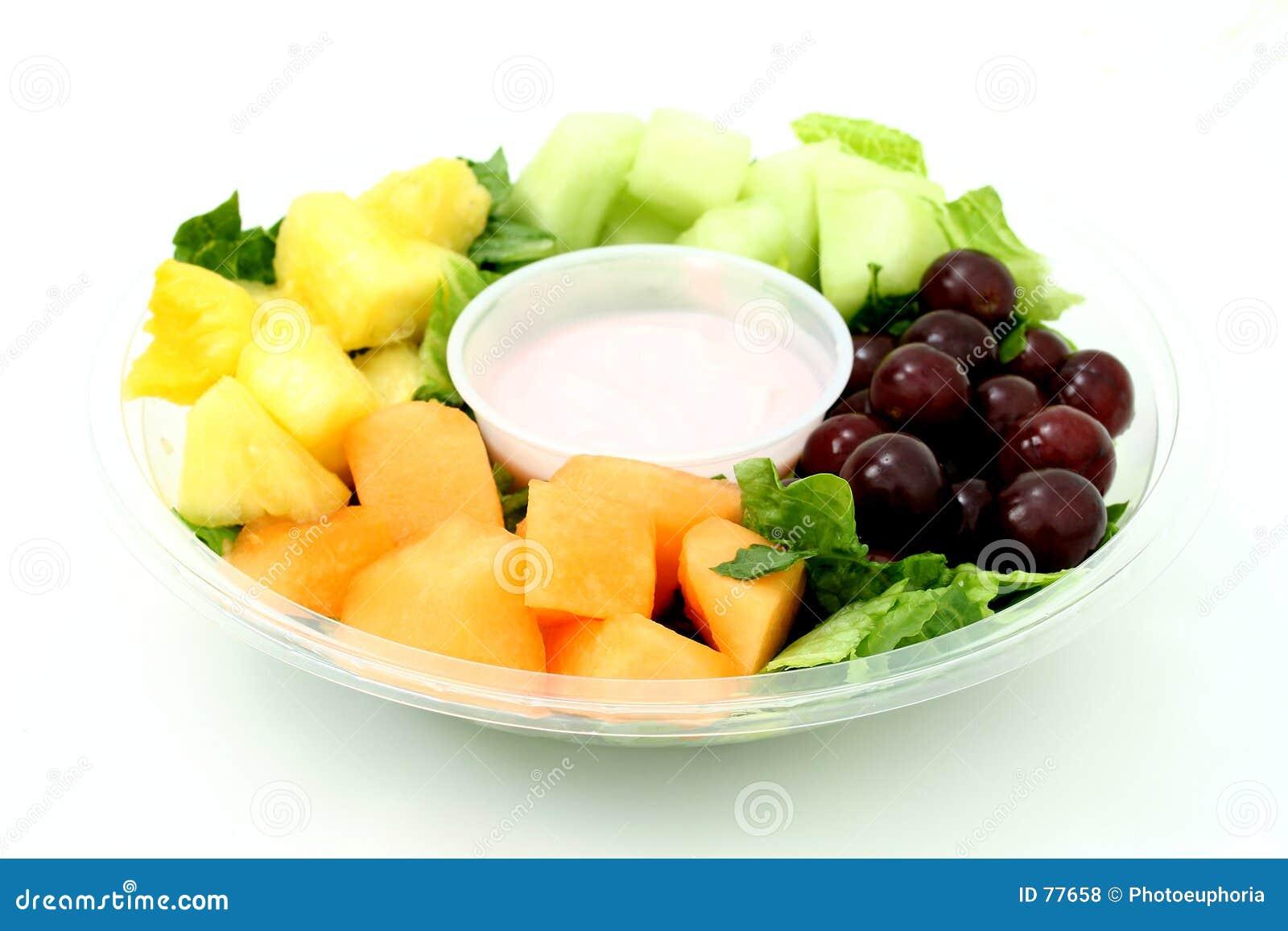 Mały owocowy tray jogurt