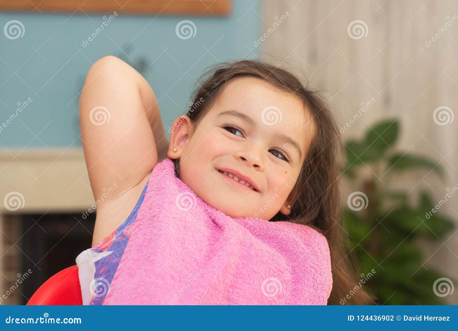 Mały portret słodką dziewczynę