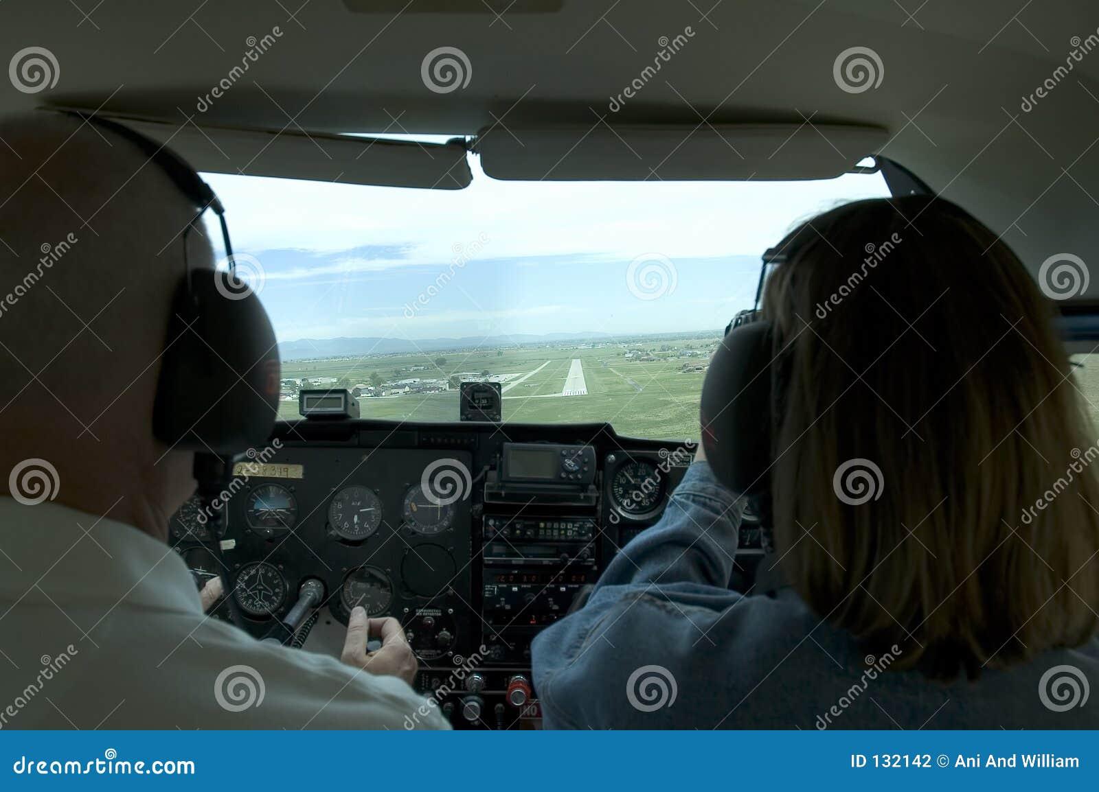 Mały samolot do kokpitu