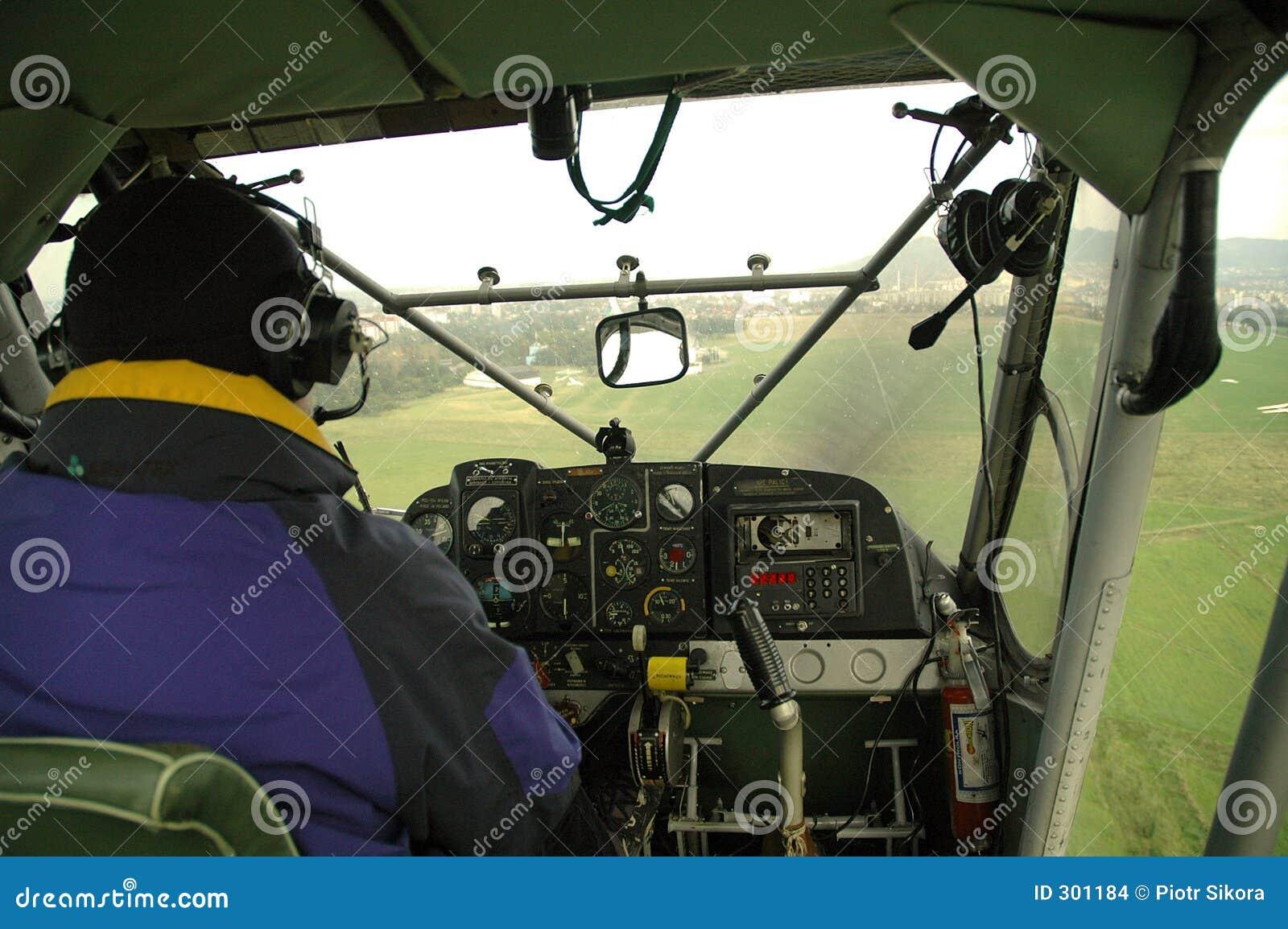 Mały samolot pilotować
