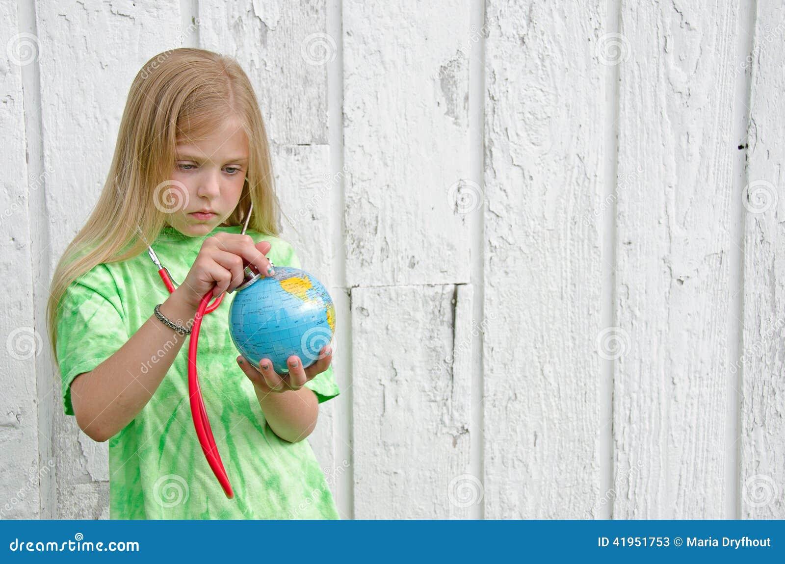Mała dziewczynka z stethscope
