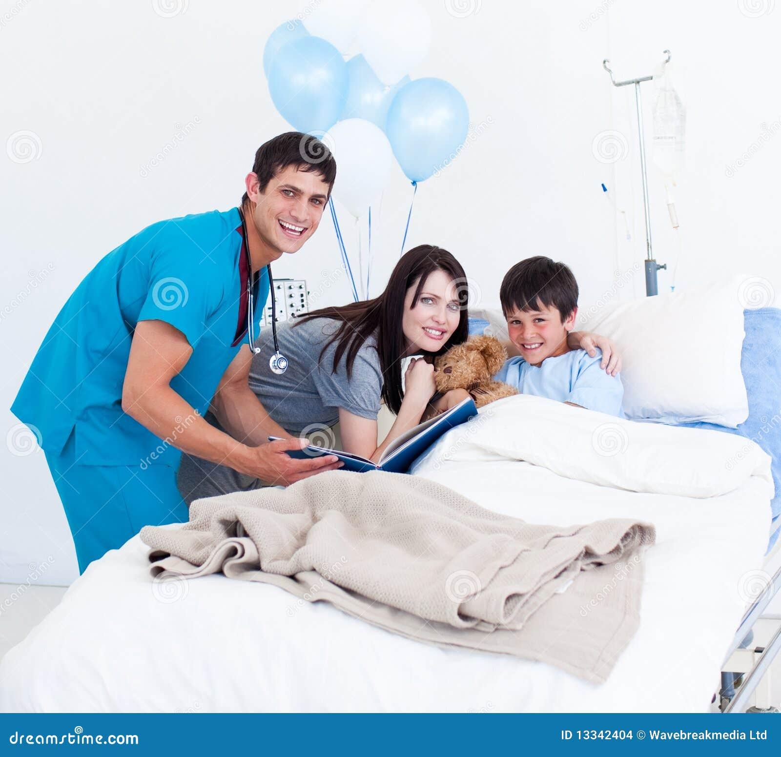 Ma jego macierzystą rozmowę chłopiec lekarka