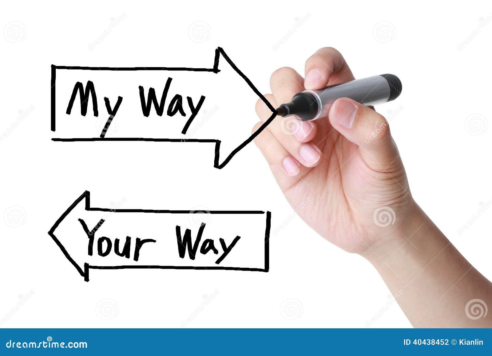 Ma manière votre manière