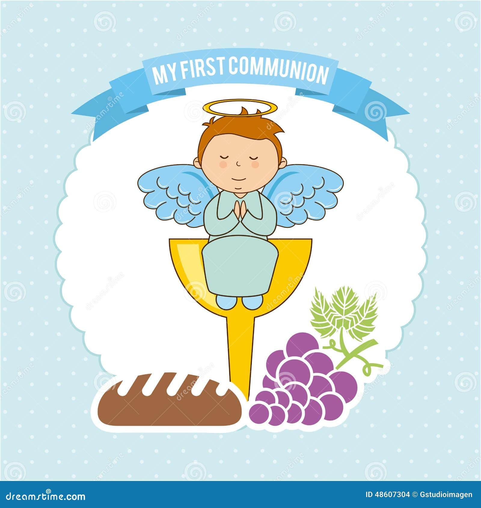 Ma Première Communion Illustration Stock Illustration Du Dessin